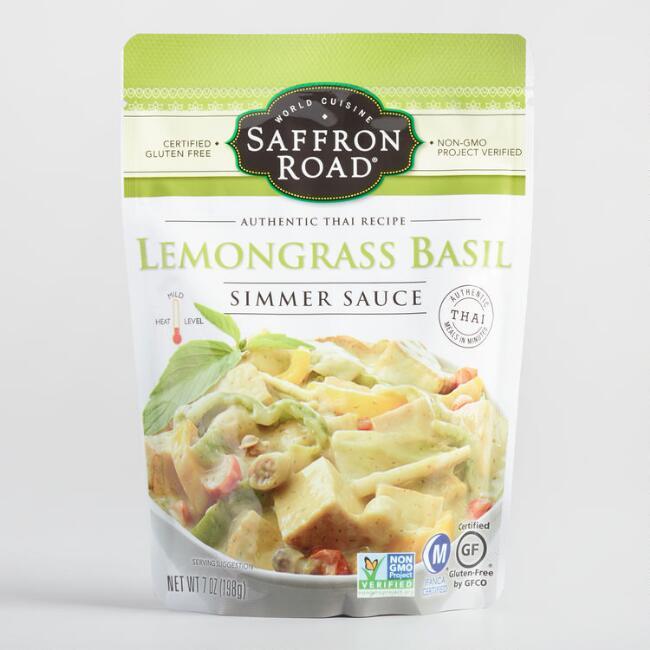 Saffron Road Lemongrass Basil Simmer Sauce, Set of 8