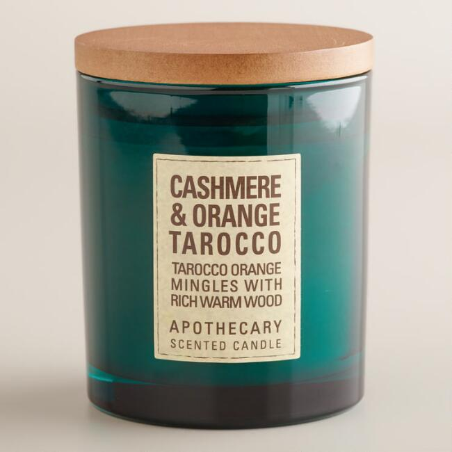 Cashmere and Tarrocco Orange Apothecary Candle