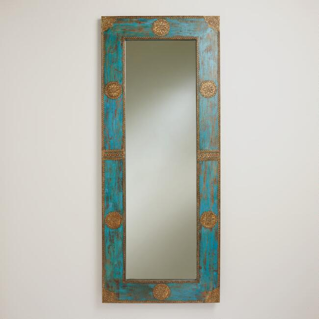 Blue Medallion Mirror