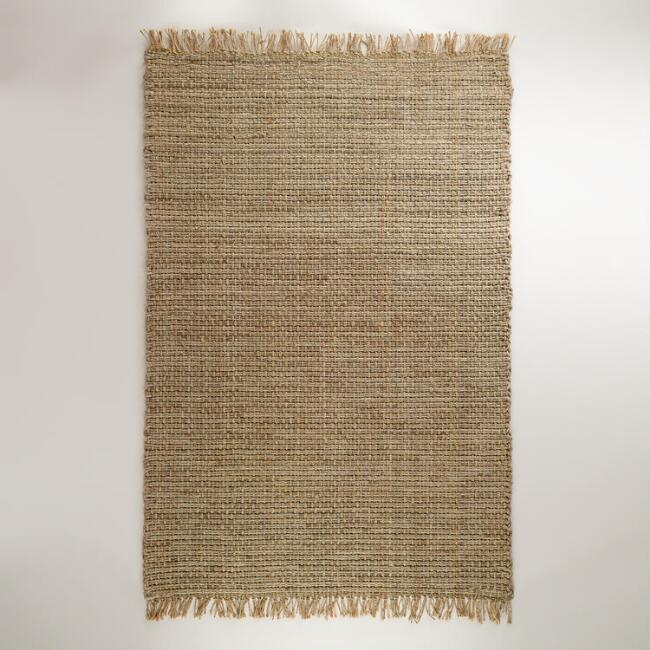 6' x 9' Chunky Cable Weave Jute Rug