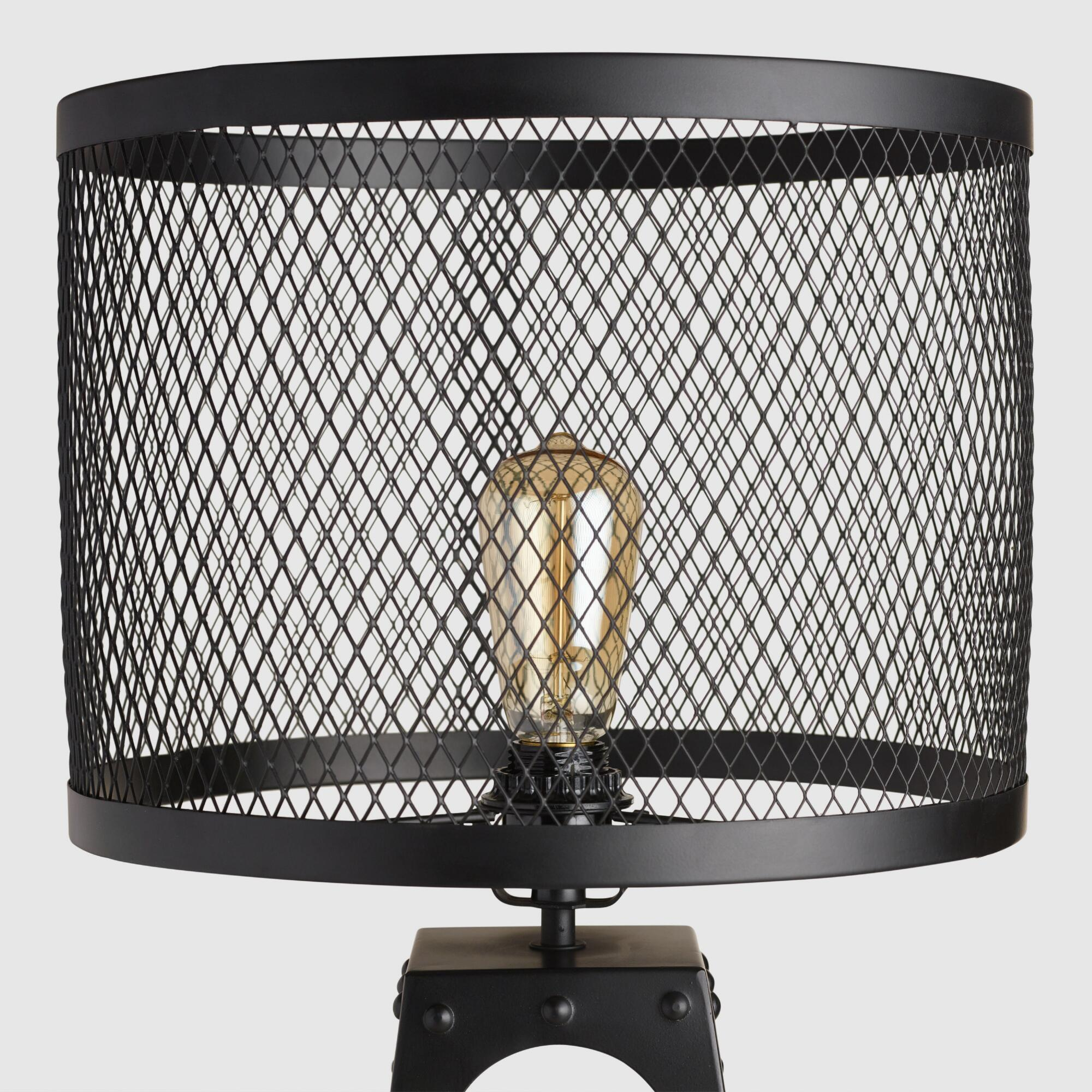 Riveted table lamp shade world market greentooth Image collections