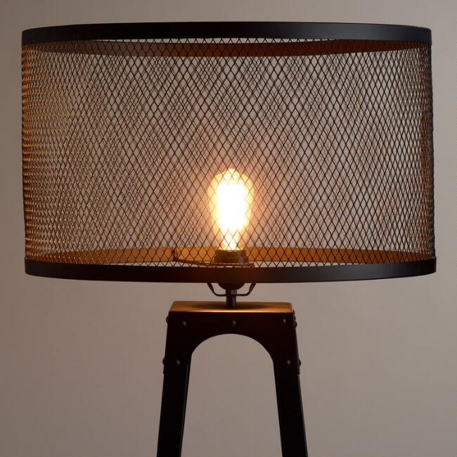 Riveted floor lamp shade world market riveted floor lamp shade mozeypictures Image collections