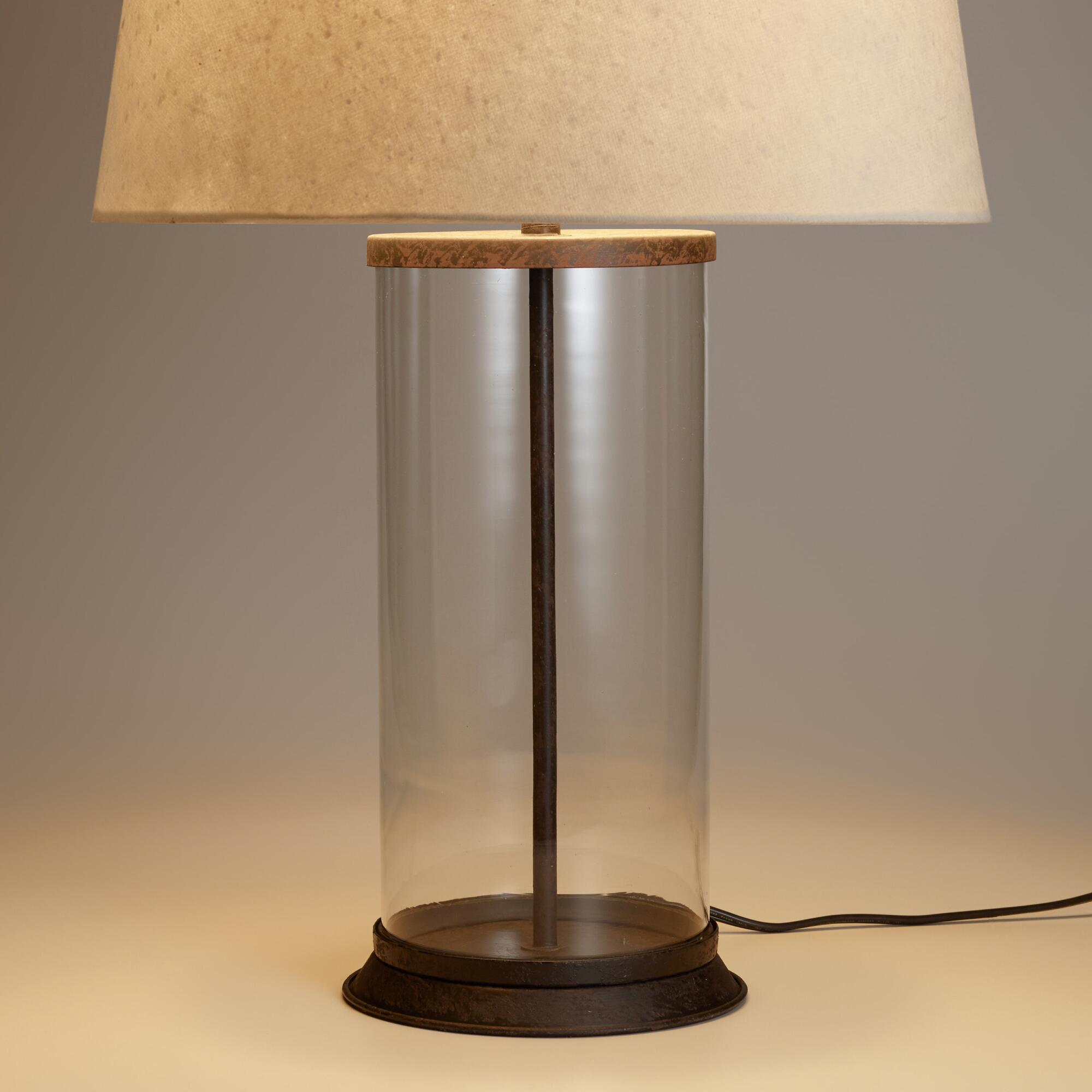 Glass cylinder table lamp base world market geotapseo Image collections