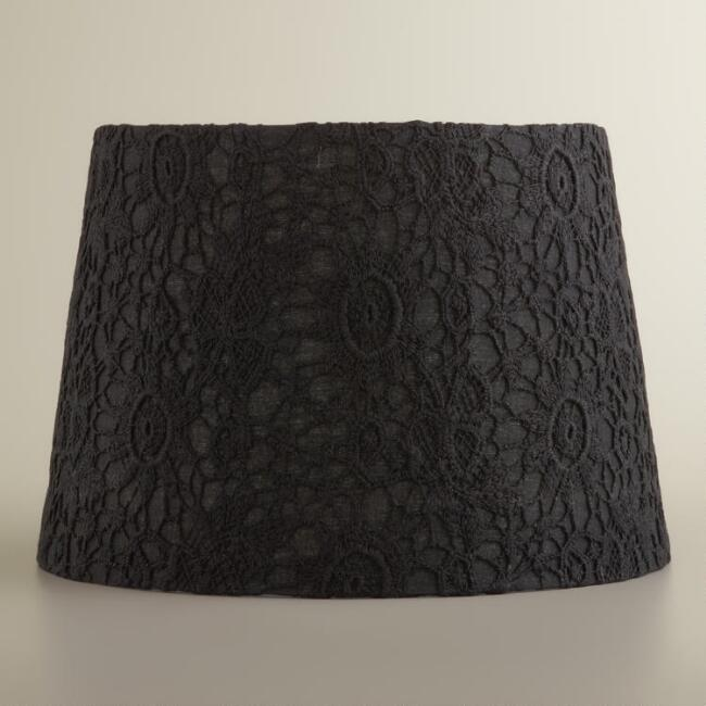 Black Lace Accent Lamp Shade
