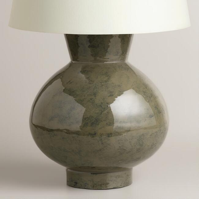 Gray Ceramic Table Lamp Base