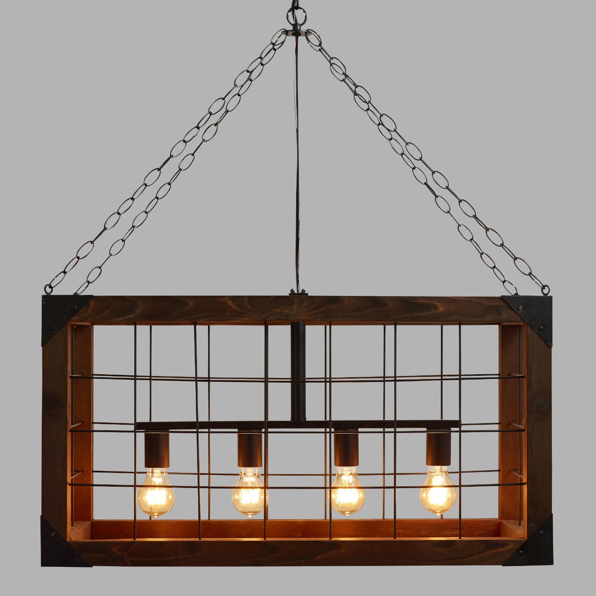 farmhouse farmhouse kitchen lighting fixtures Rectangular Farmhouse Pendant Lamp