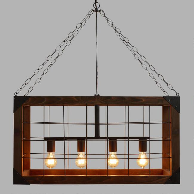Rectangular farmhouse pendant lamp world market