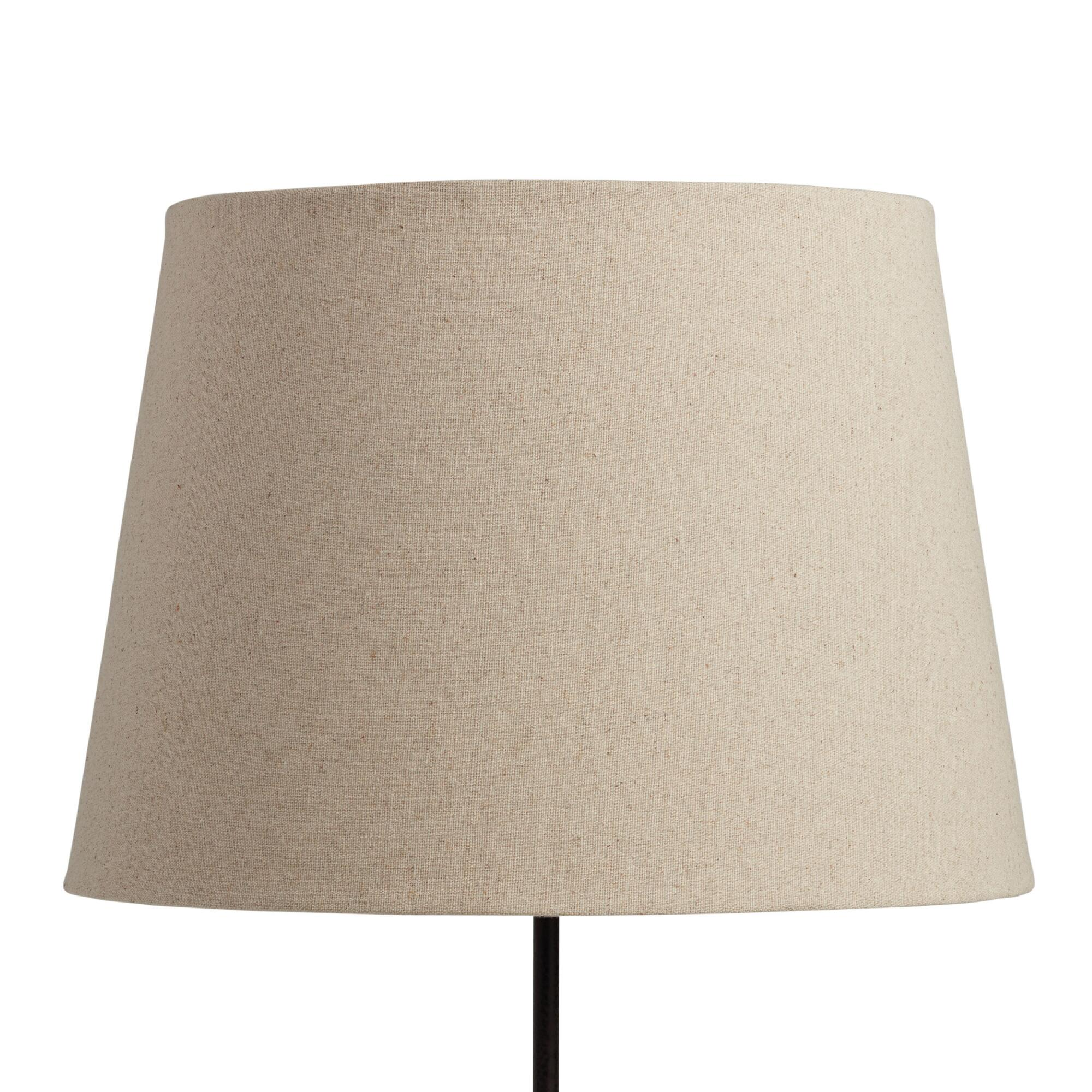 Linen Table Lamp Shade: Natural - Fabric by World Market