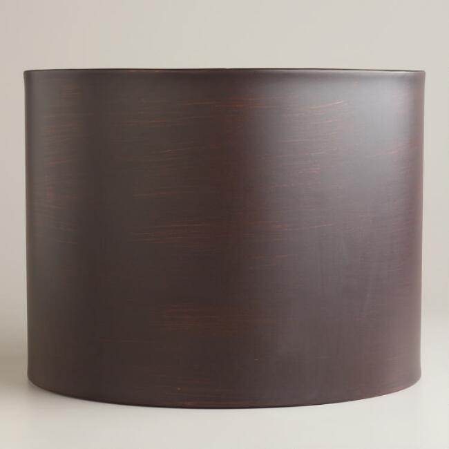 Bronze Metal Drum Table Lamp Shade