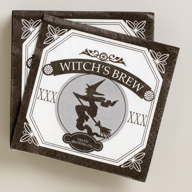 Witch's Brew Halloween Beverage Napkins, 16-Count