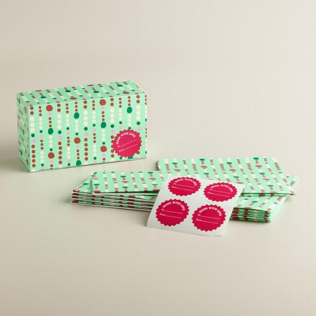 Mint Gumdrops Confection Boxes, Set of 6
