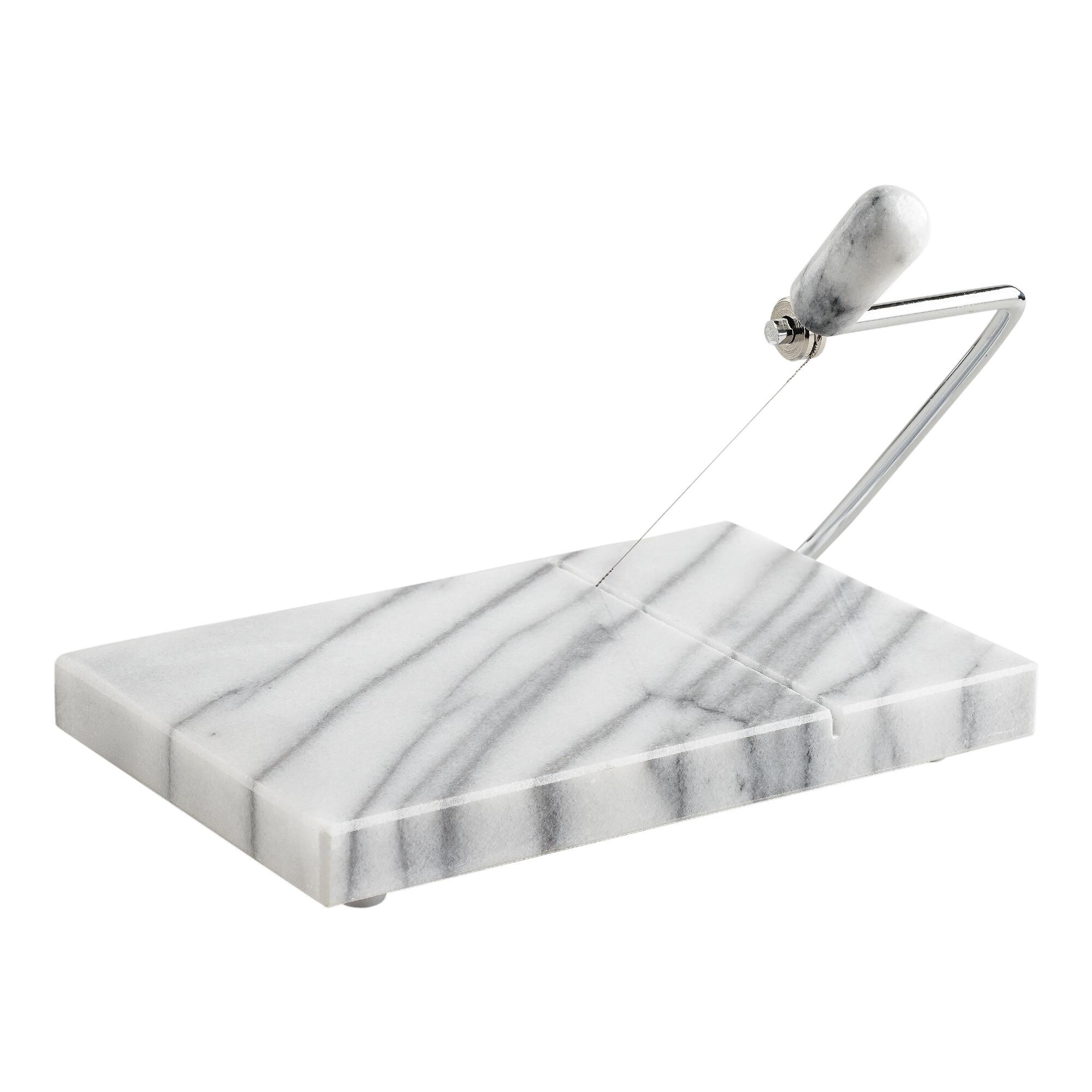 White Marble Cheese Slicer | World Market