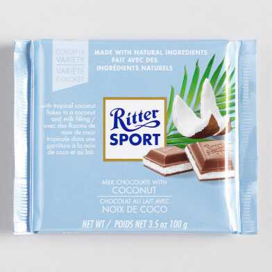 Ritter Sport Milk Chocolate with Coconut Bar Set of 12
