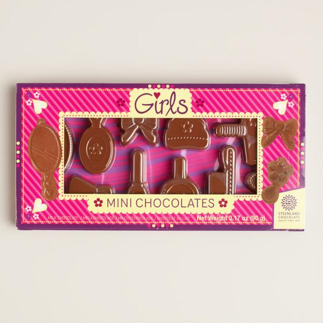 Steenland Girls Mini Chocolates, Set of 6 Boxes