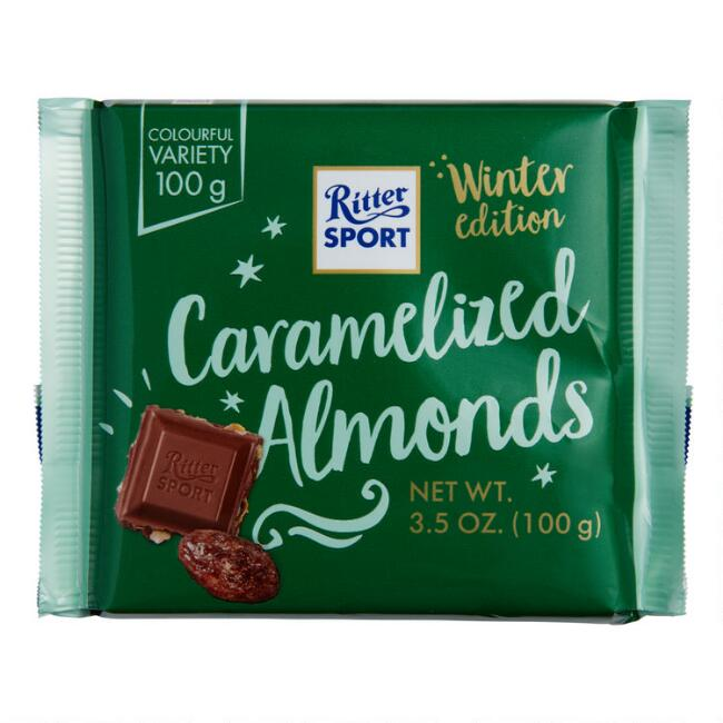 Ritter Sport Caramelized Almonds Chocolate Bar