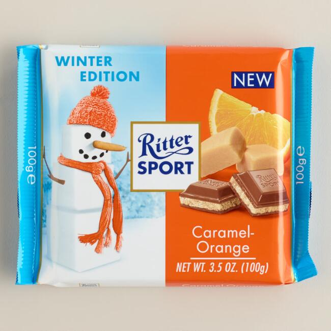 Ritter Sport Caramel Orange Chocolate Bar