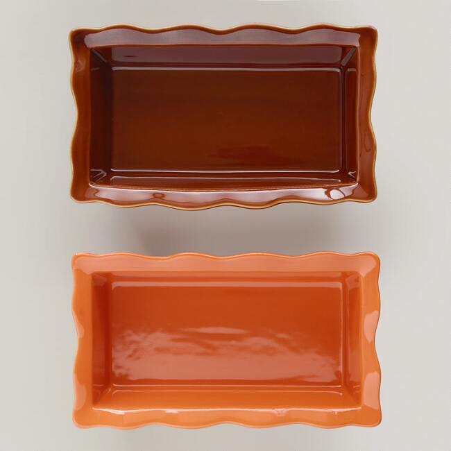 Ruffled Loaf Pans, Set of 2