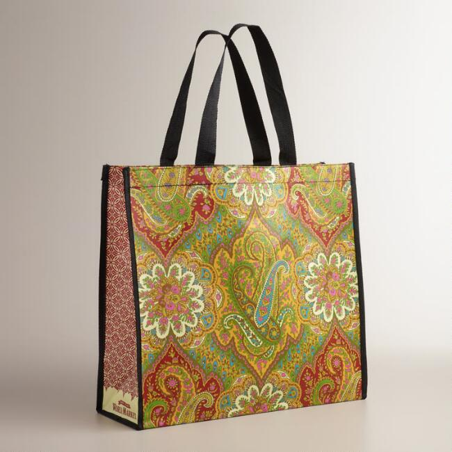 Red Rialto Paisley Tote