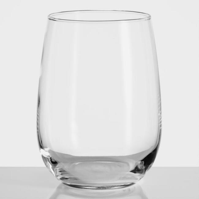 Stemless White Wine Glass 12-Piece Entertaining Set