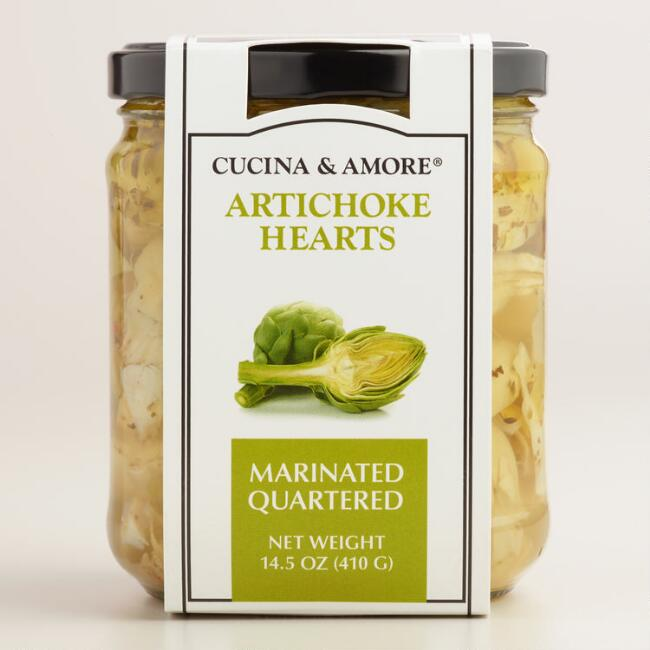 Cucina & Amore Quartered Marinated Artichoke Heart, Set of 6