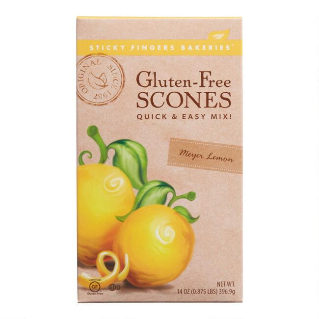 Sticky Fingers Gluten Free Meyer Lemon Scone Mix Set Of 6