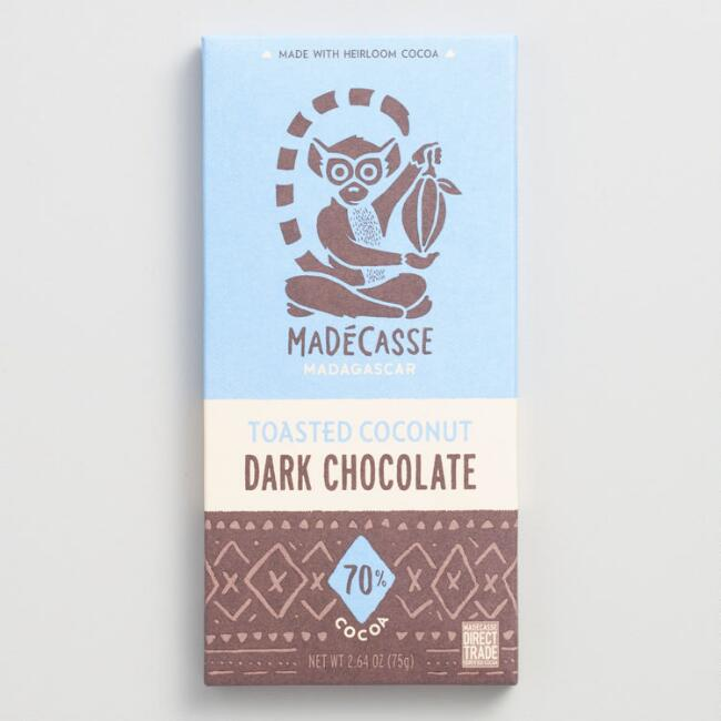 Madécasse Toasted Coconut Chocolate Bar, Set of 2