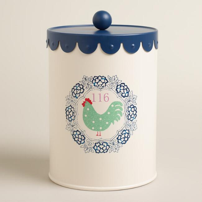 Large Rooster Cookie Tin