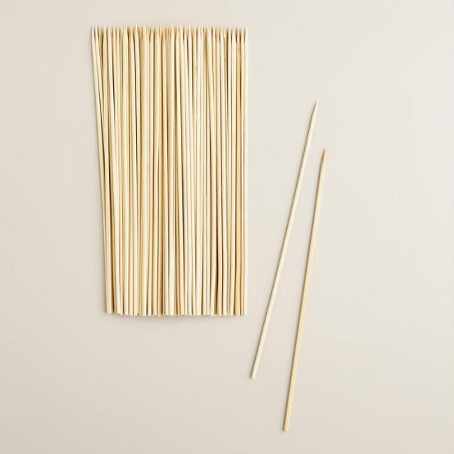 Round Bamboo Skewers, 100-Count