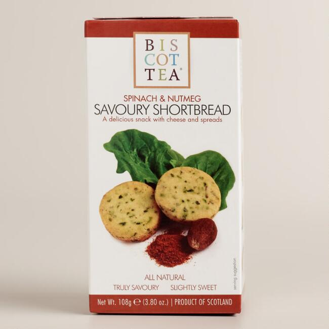 Biscottea Spinach and Nutmeg Shortbread