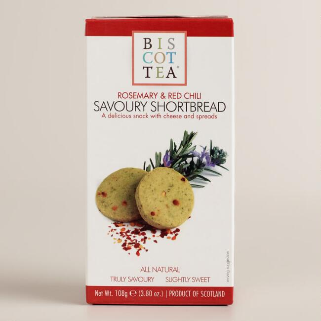 Biscottea Rosemary and Chili Shortbread