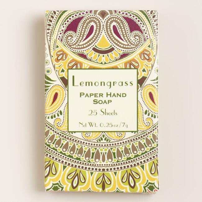 Lemongrass Paper Soap, Set of 4