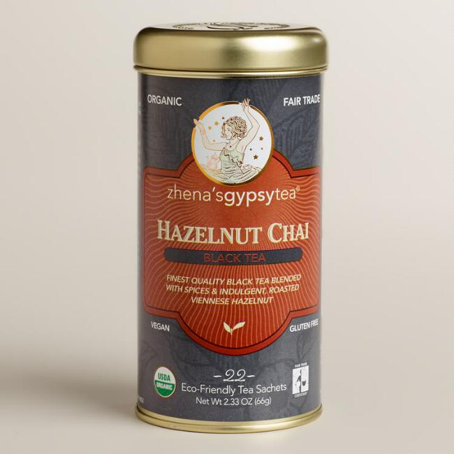 Zhena's Hazelnut Chai Black Tea, 22-count