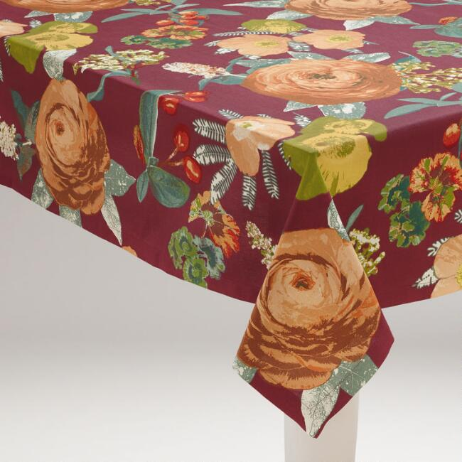 Autumnal Garden Tablecloth