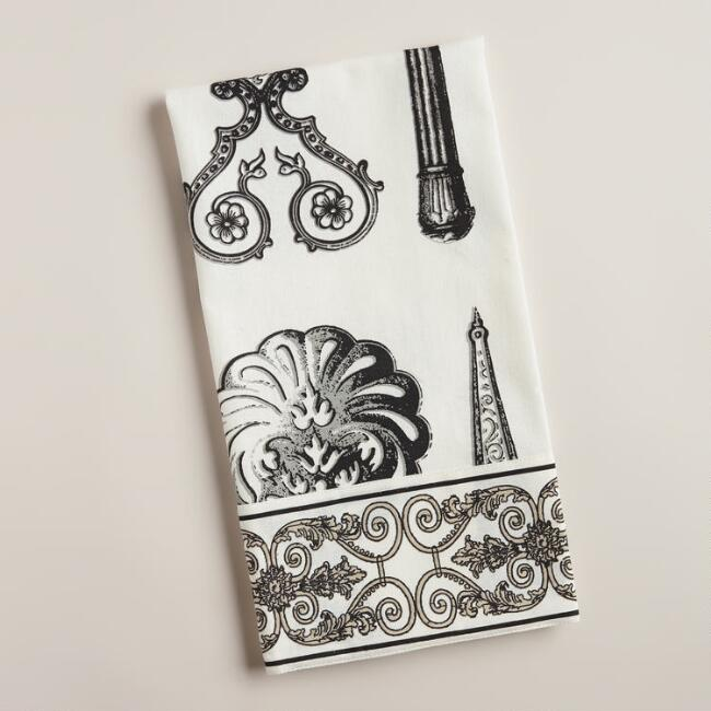 Black and White Tools Kitchen Towel