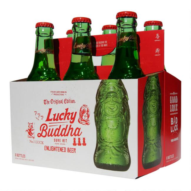 Lucky Buddha Beer, 6-Pack