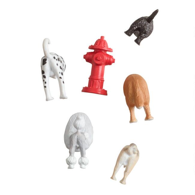 Dog Butt Magnets 6 Pack