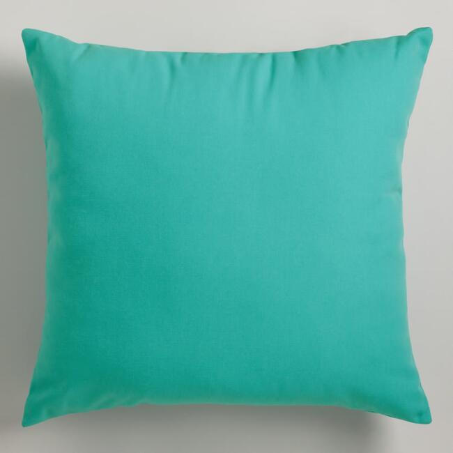 Aqua Outdoor Throw Pillows