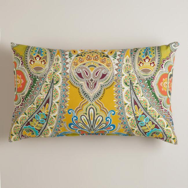 Venice Paisley Outdoor Lumbar Pillow