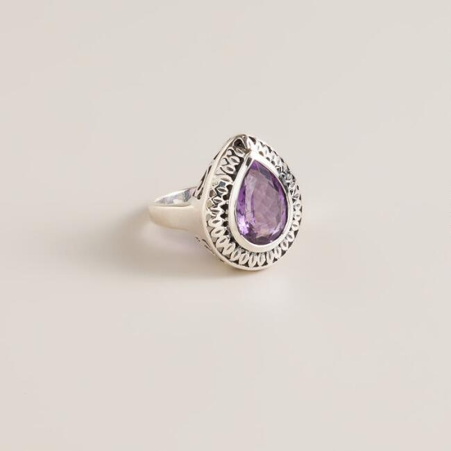 Sterling Silver and Amethyst Ring