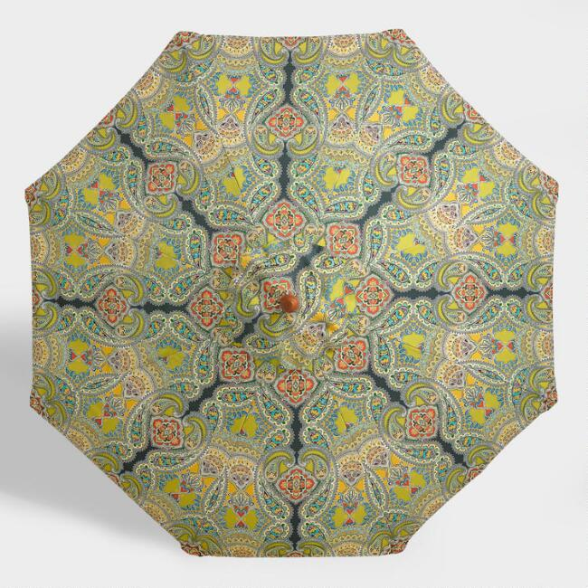Venice Paisley 9 ft Umbrella Canopy