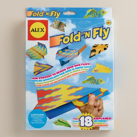 fold n fly paper airplanes kit world market