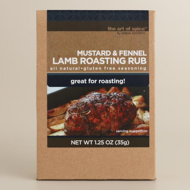 Urban Accents Mustard and Fennel Lamb Rub