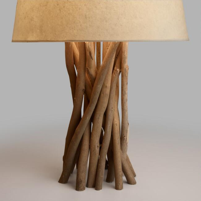 Driftwood table lamp base world market mozeypictures Image collections
