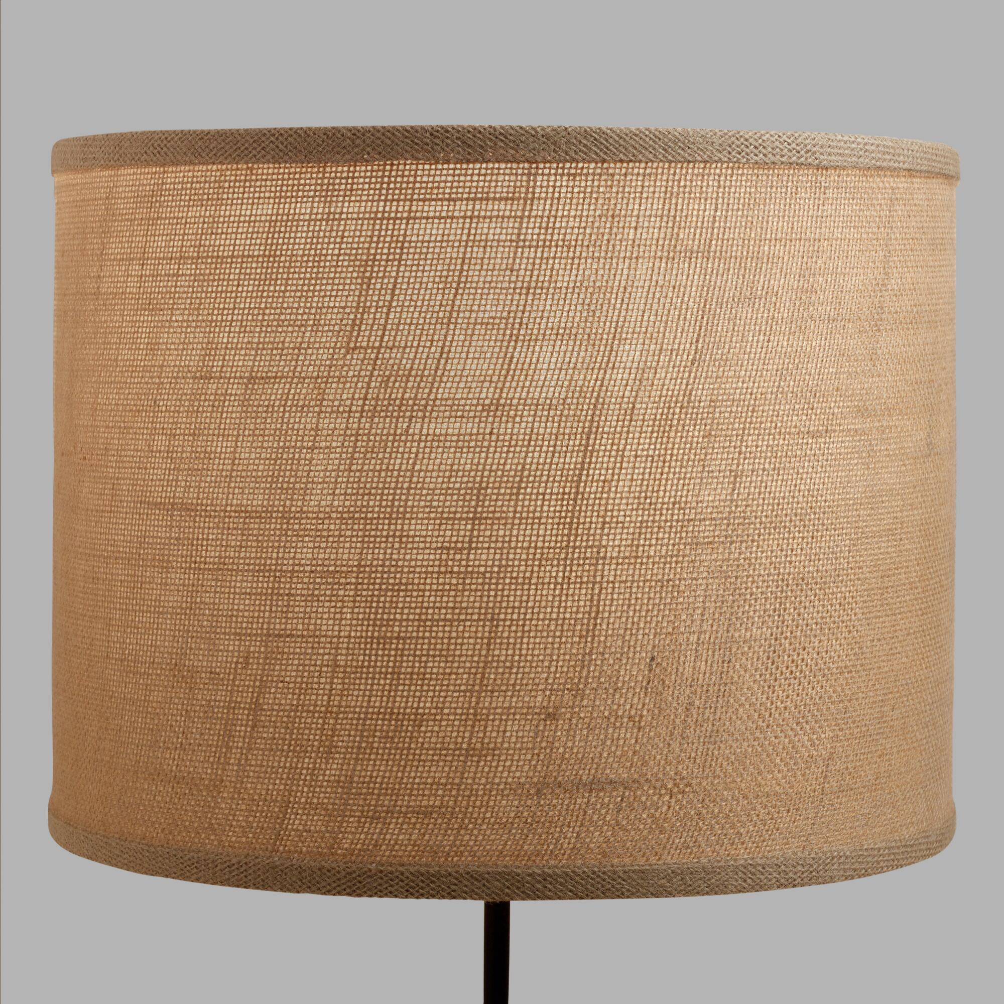 Natural burlap drum table lamp shade world market aloadofball Image collections