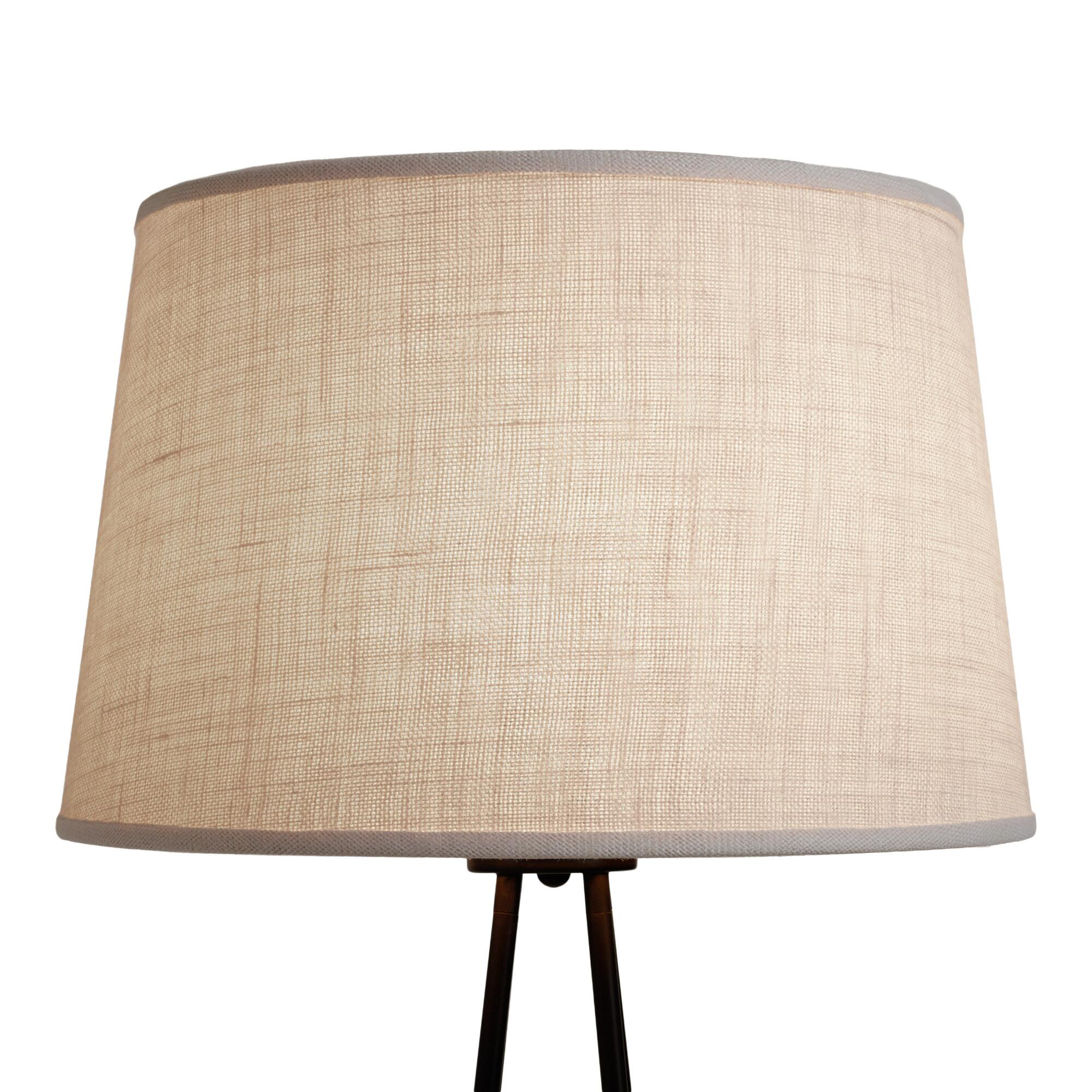 Marshmallow White Burlap Floor Lamp Shade - Natural Fiber by World Market