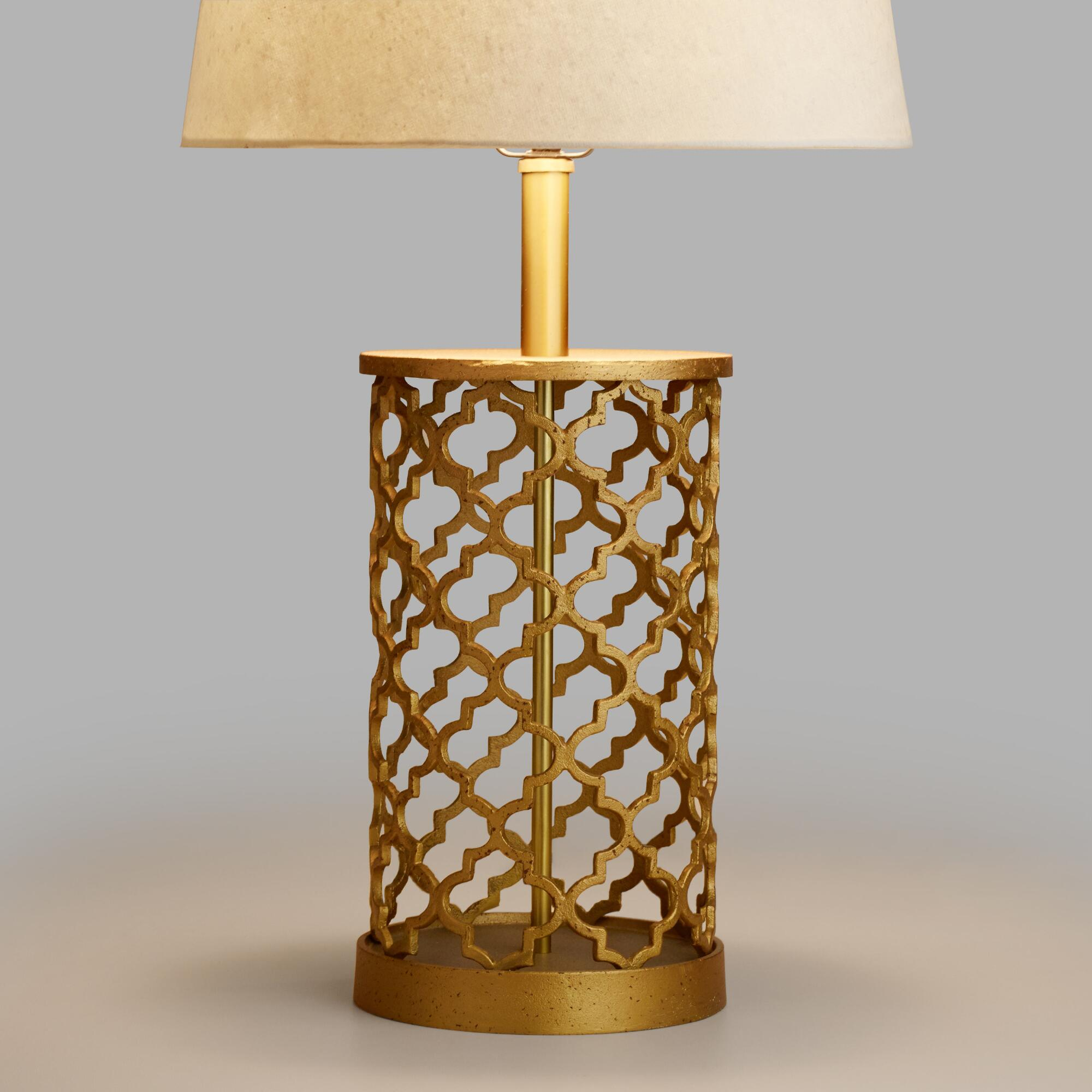 Distressed gold moroccan table lamp base world market geotapseo Image collections