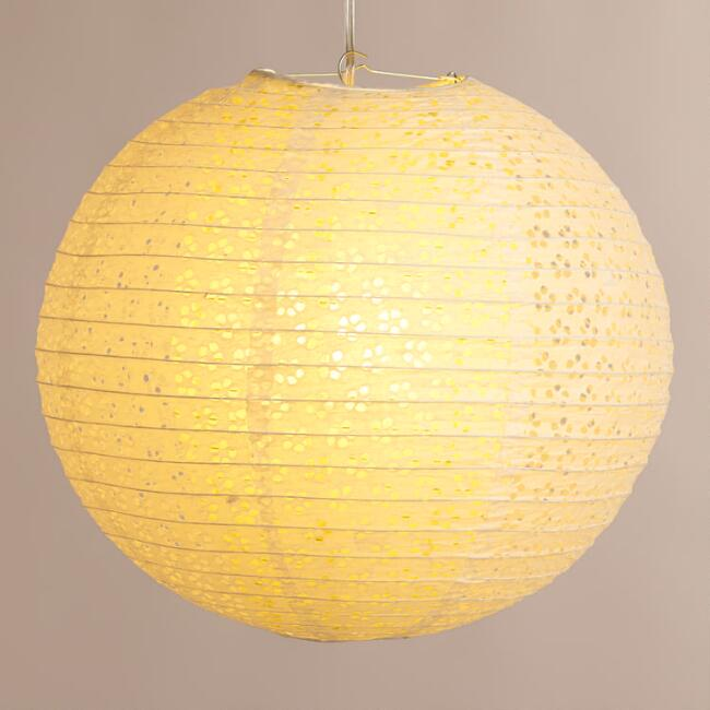 Apple Green Eyelet Paper Lantern
