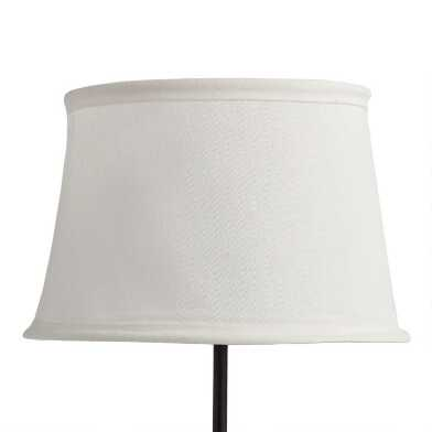 White Collapsible Canvas Accent Lamp Shade