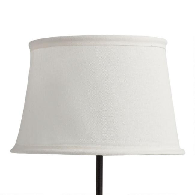 White collapsible canvas accent lamp shade world market white collapsible canvas accent lamp shade aloadofball Choice Image