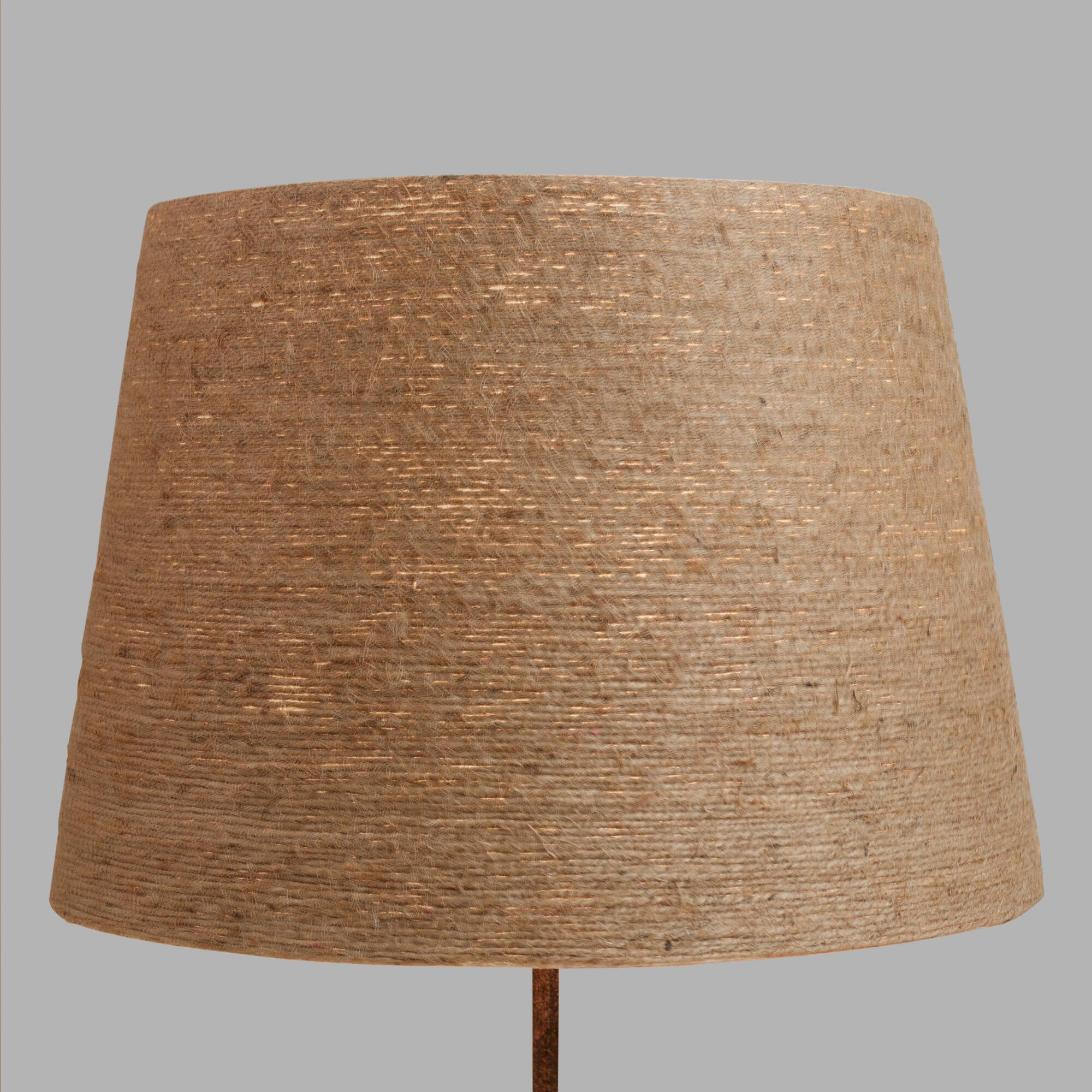 Twine-Wrapped Table Lamp Shade: Natural - Natural Fiber by World Market
